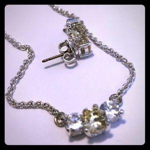Vintage Avon yellow/peridot jewelry set
